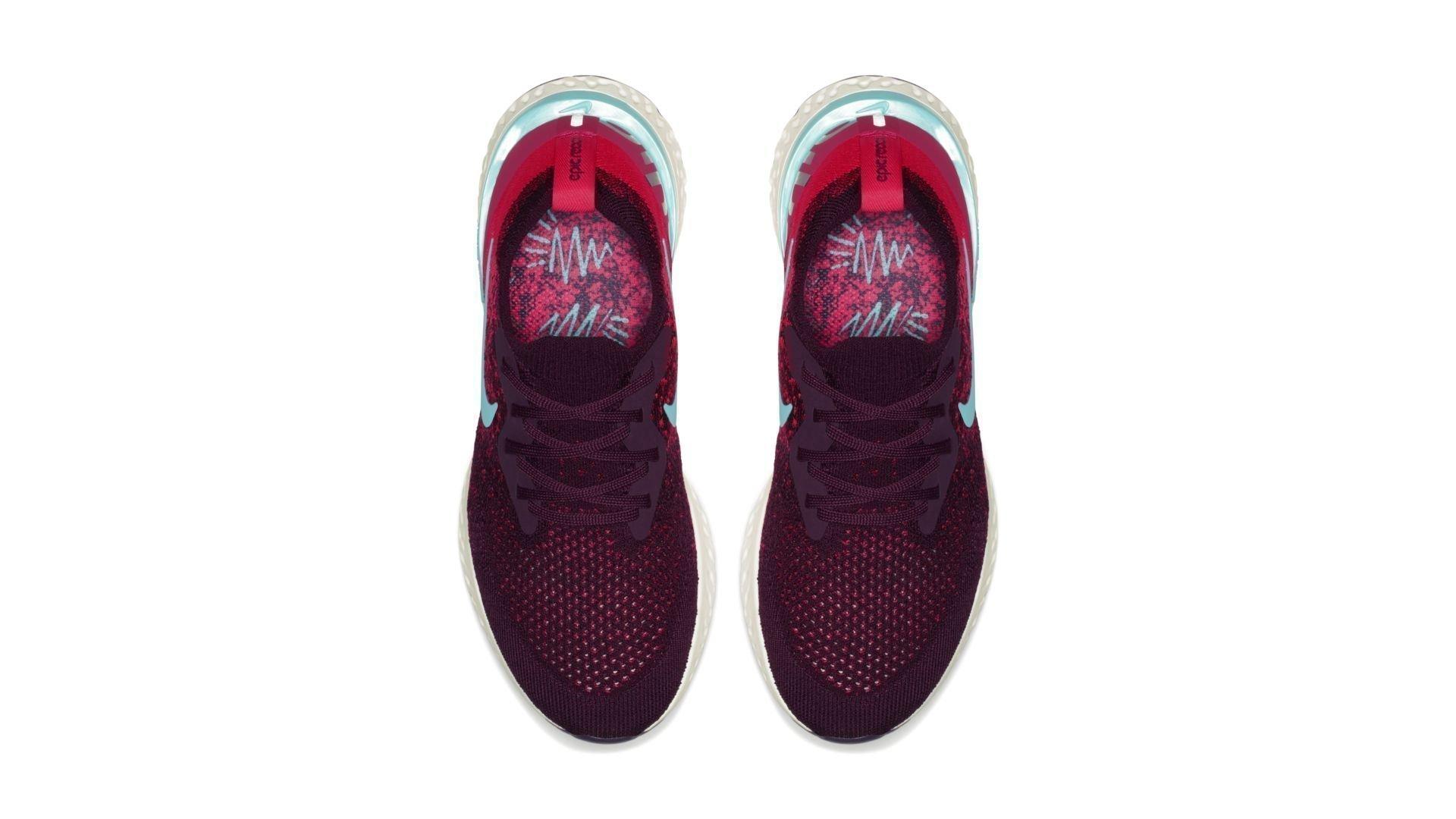 Nike Epic React Flyknit Bordeaux Hyper Jade (W) (AR5518-600)
