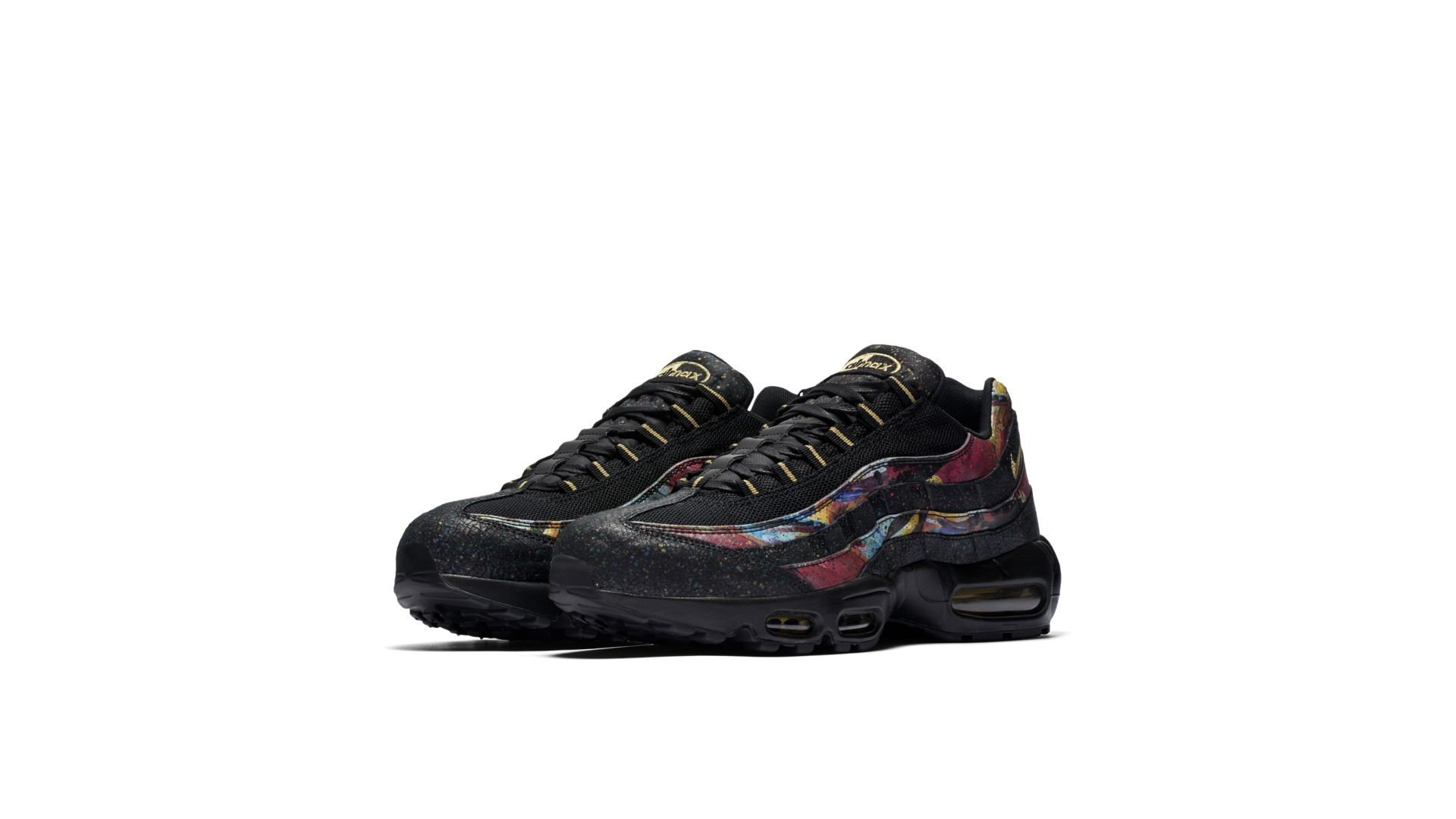 Nike Air Max 95 Black Gold Cobalt Blaze AT6142 001