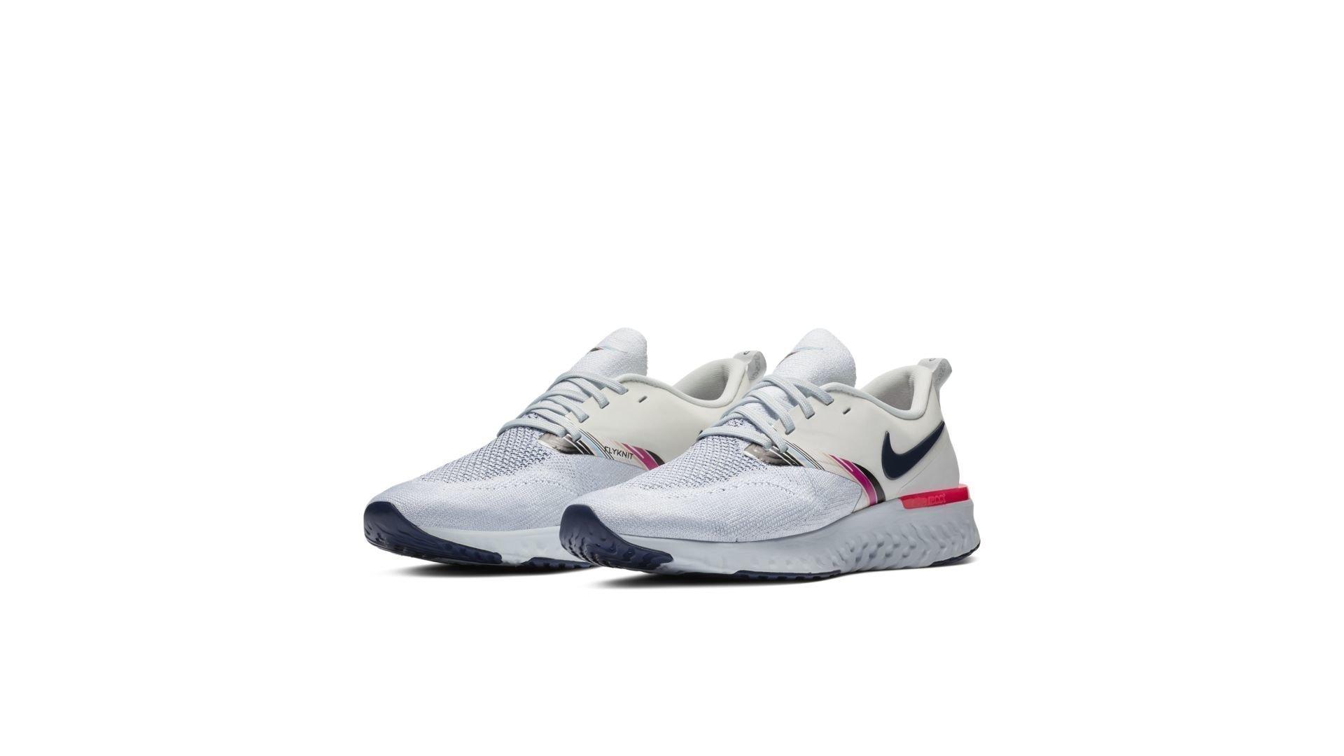 Nike Odyssey React 2 Flyknit White Blue Void Hyper Pink (W) (AV2608-146)