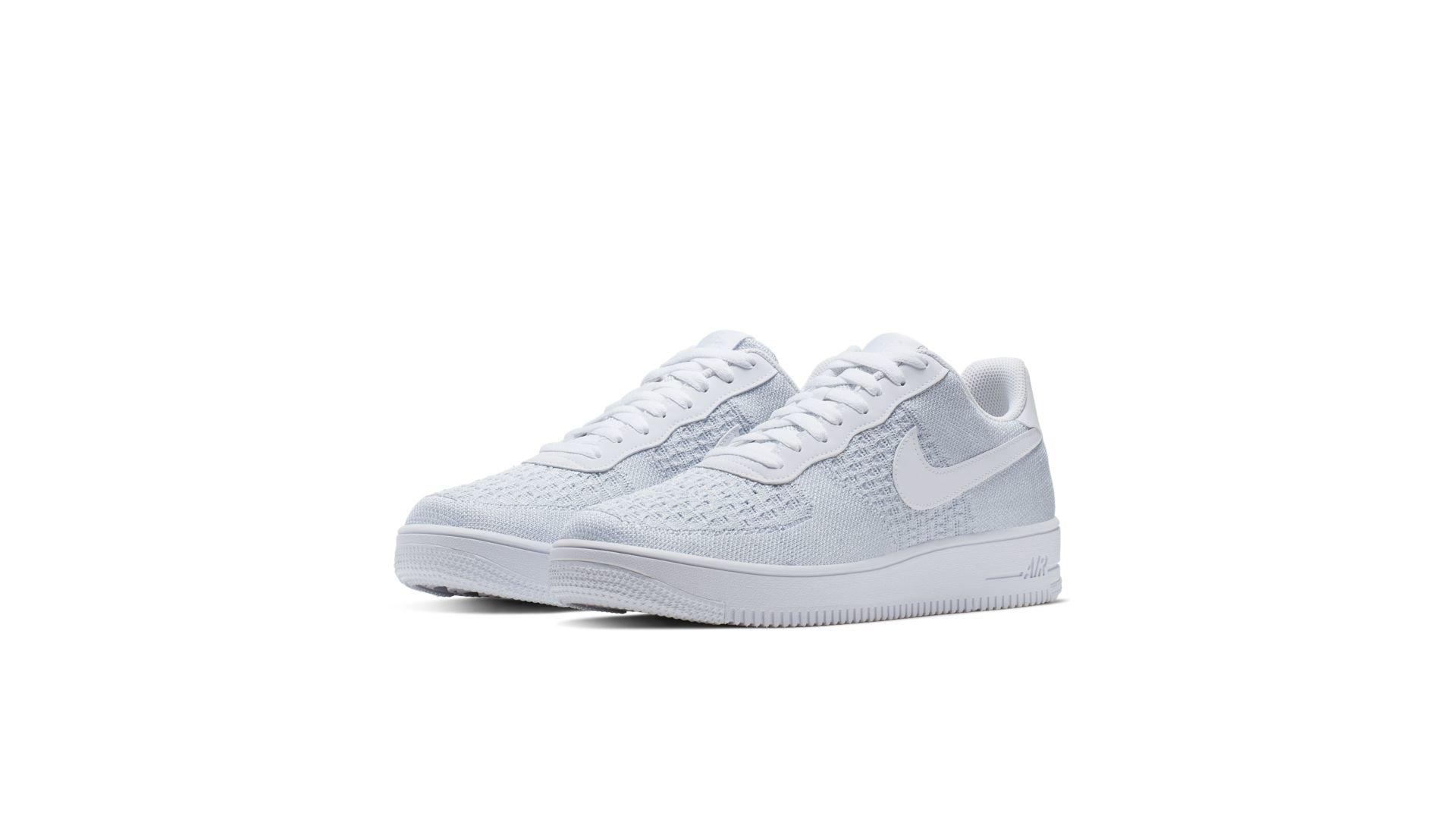 Nike Air Force 1 Flyknit 2 White Pure Platinum (AV3042 100)