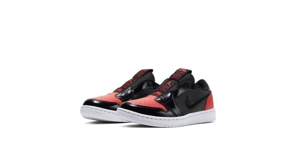 Jordan 1 Low Slip Black Hot Punch (W)