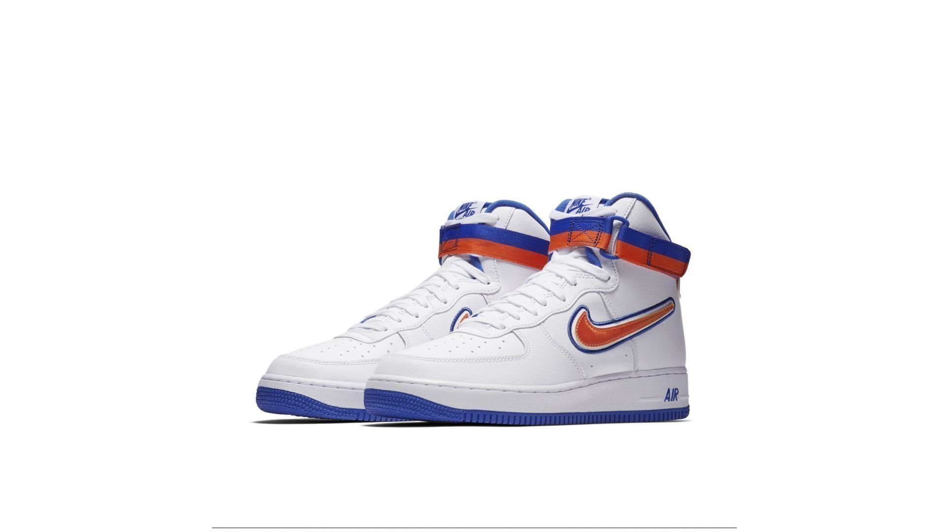 Nike Air Force 1 High Sport NBA White Team Orange Game Royal (AV3938-100)