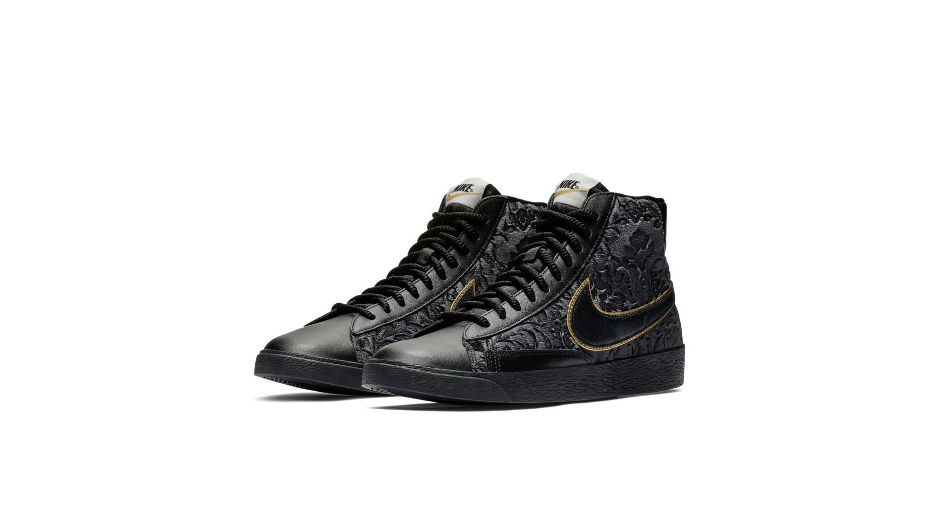 enlace Preescolar Salvaje  Nike Blazer Mid Velvet Black Metallic Gold (W) (AV8437-001) | Sneakers4u