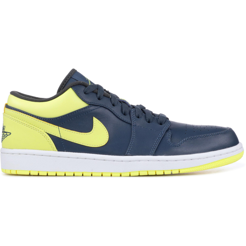 Jordan 1 Low Squadon Blue Electric Yellow (553558-417)