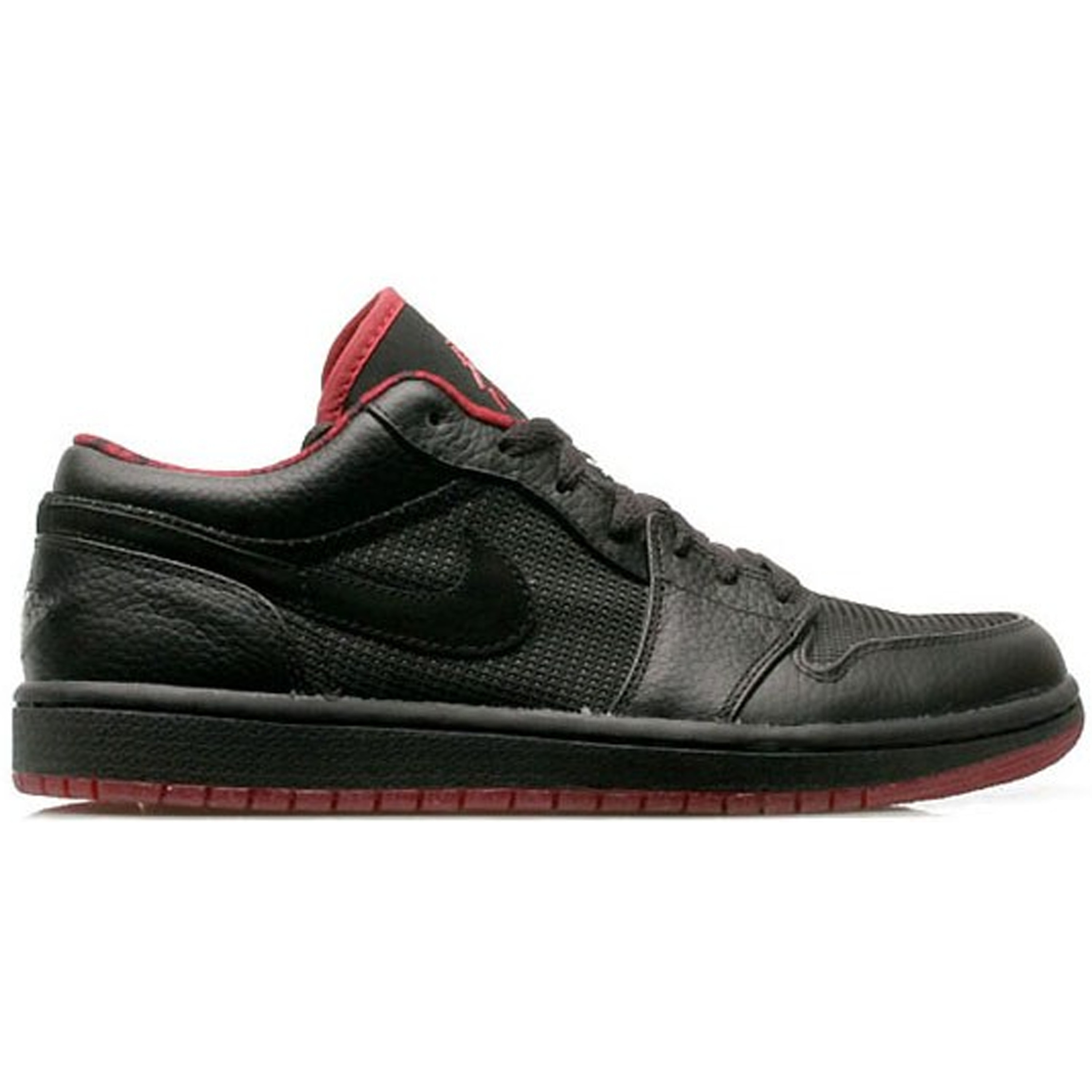 Jordan 1 Retro Low Black Metallic Silver Varsity Red (309192-001)