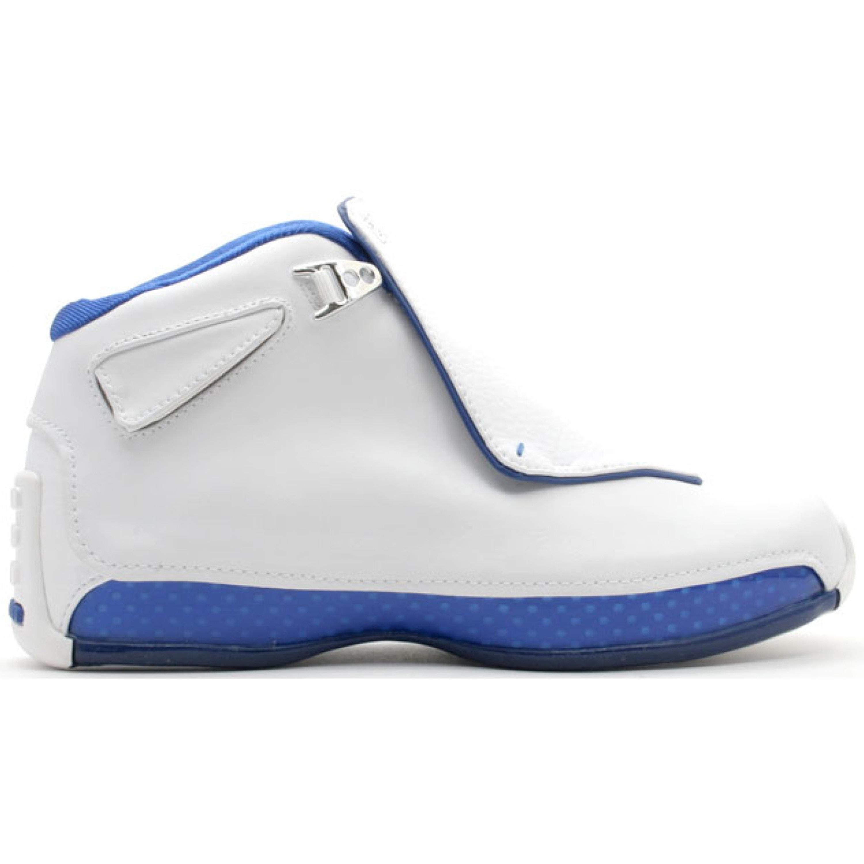 Jordan 18 White Sport Royal (GS) (305886-101)