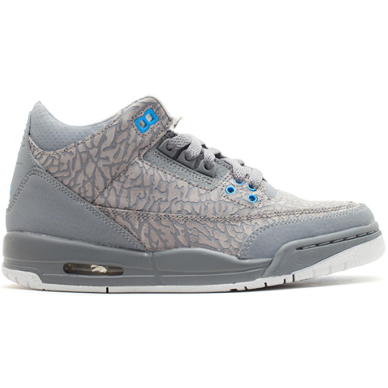Jordan 3 Retro Flip Cool Grey Blue Glow (GS) (441140-015)