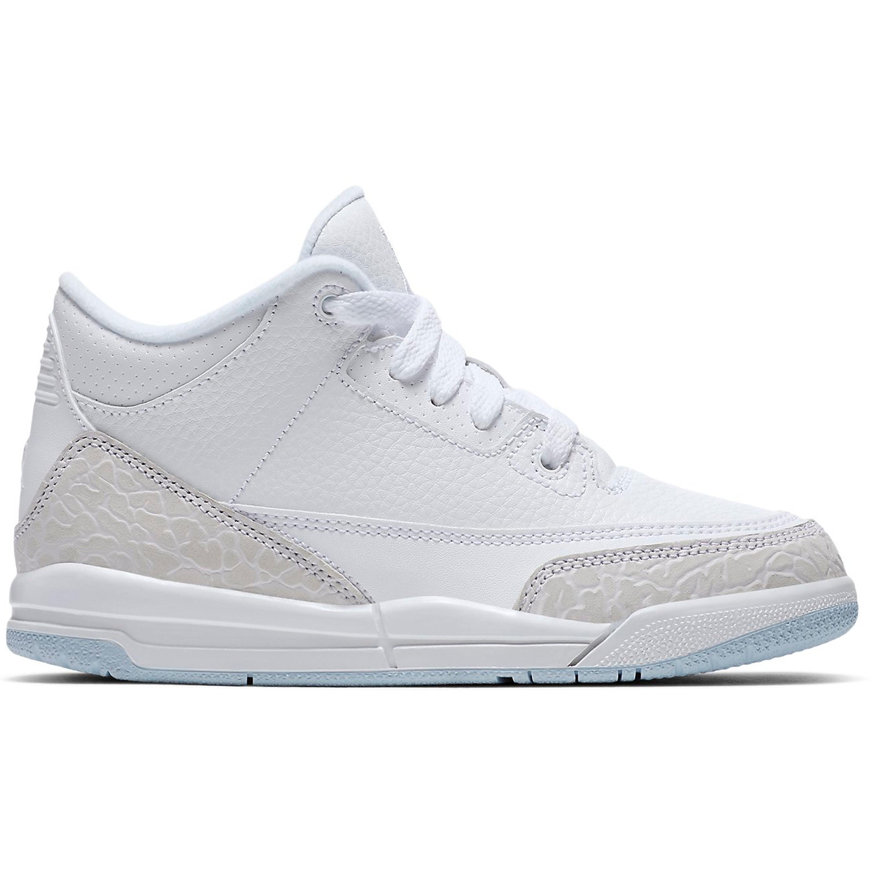 Jordan 3 Retro Pure White 2018 (PS) (429487-111)