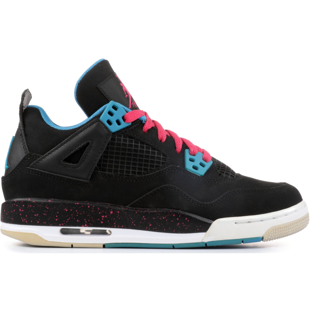 Jordan 4 Retro Black Vivid Pink Dynamic Blue (GS)