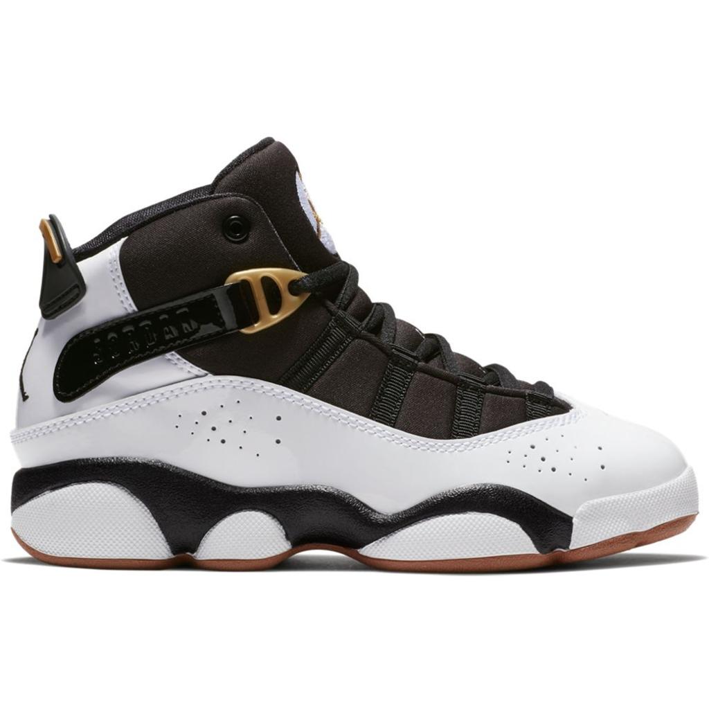 Jordan 6 Rings White Black Metallic Gold (PS)