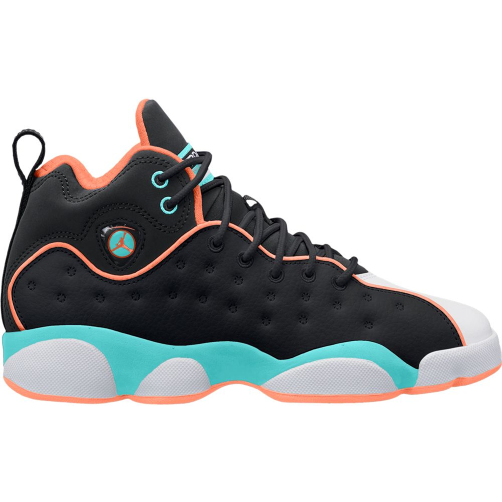 Jordan Jumpman Team 2 Black Crimson Pulse Light Aqua (GS)