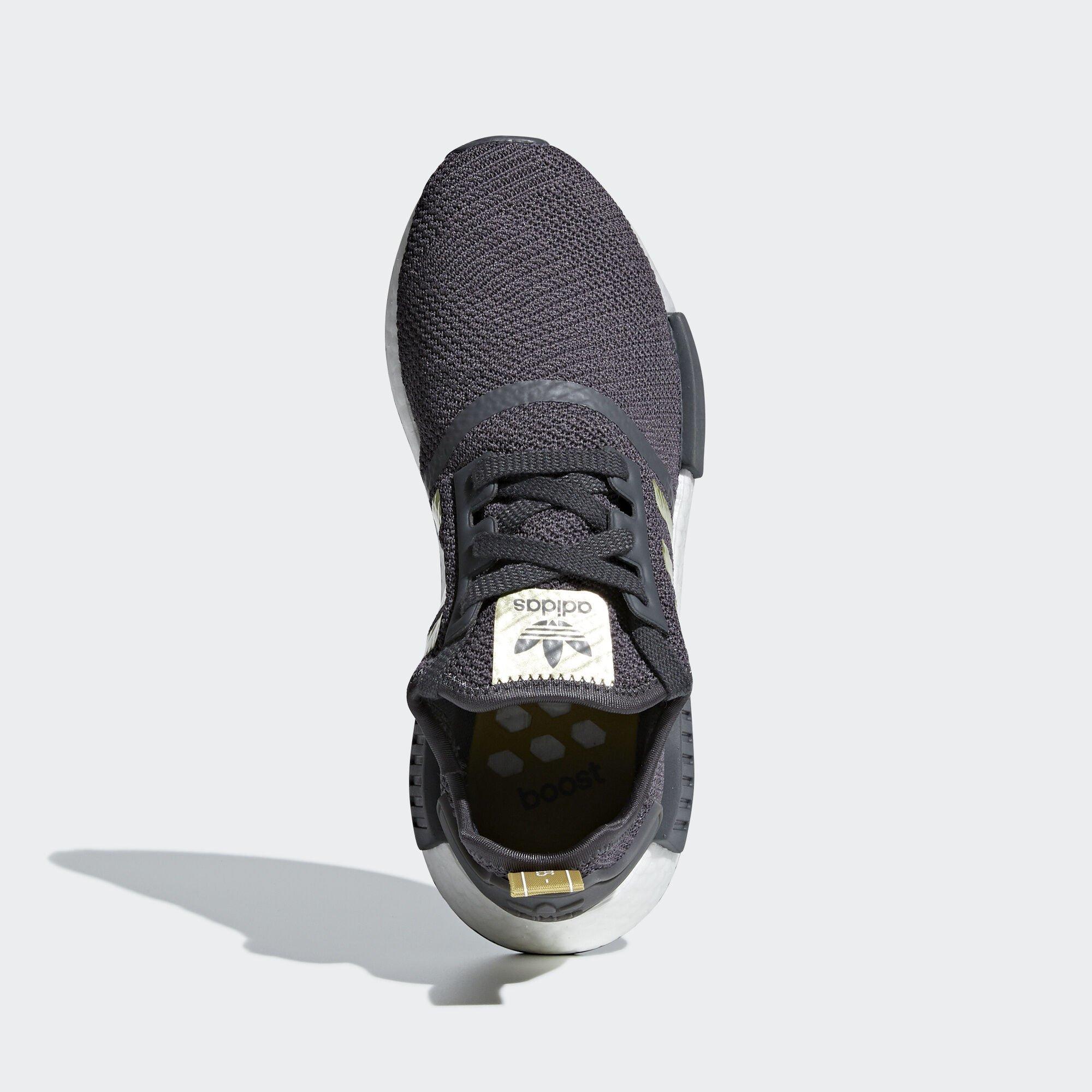 adidas  NMD R1 Grey Five Gold Metallic (W) (B37651)