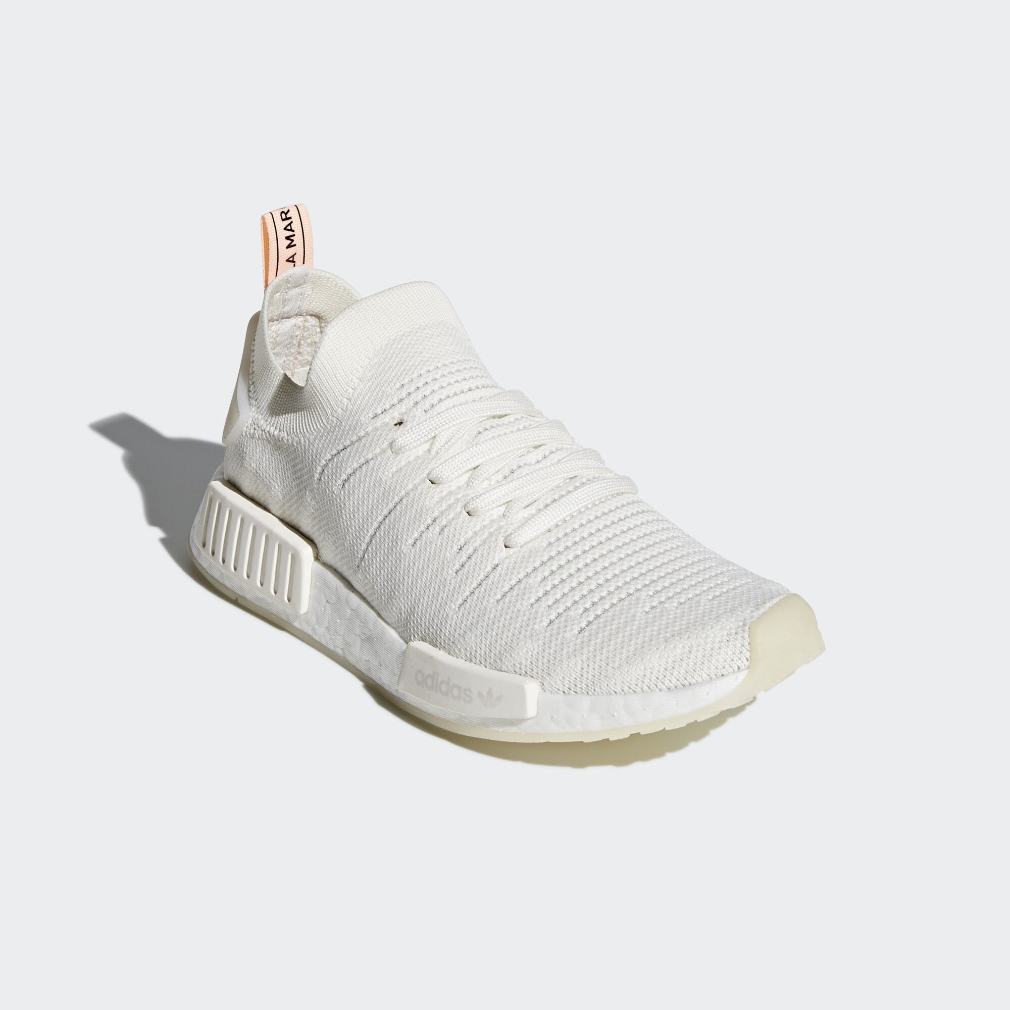 adidas  NMD R1 STLT Running White Clear Orange (W) (B37655)