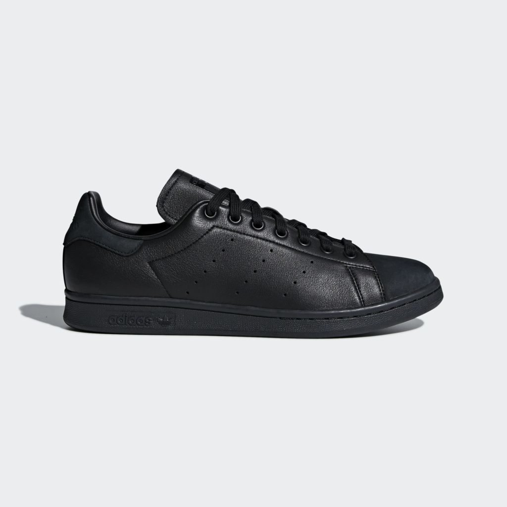 adidas Stan Smith Triple Core Black (Suede Toe)
