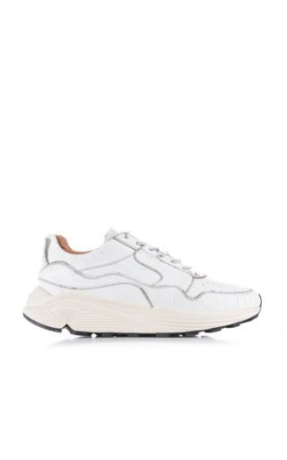 Buttero B7350 Vinci Running Crackle Leather White