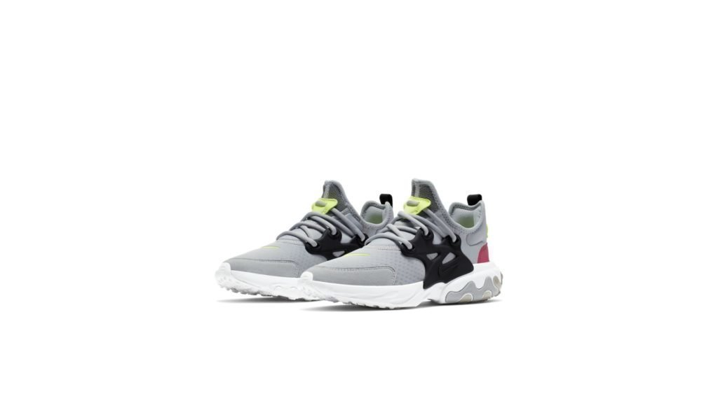 Nike React Presto Wolf Grey Black Rush Pink Volt (GS)