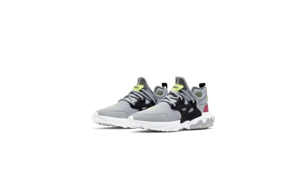 Nike React Presto Wolf Grey Black Rush Pink Volt (GS)