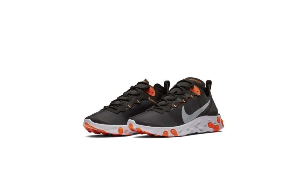 Nike React Element 55 Black Cool Grey Total Orange
