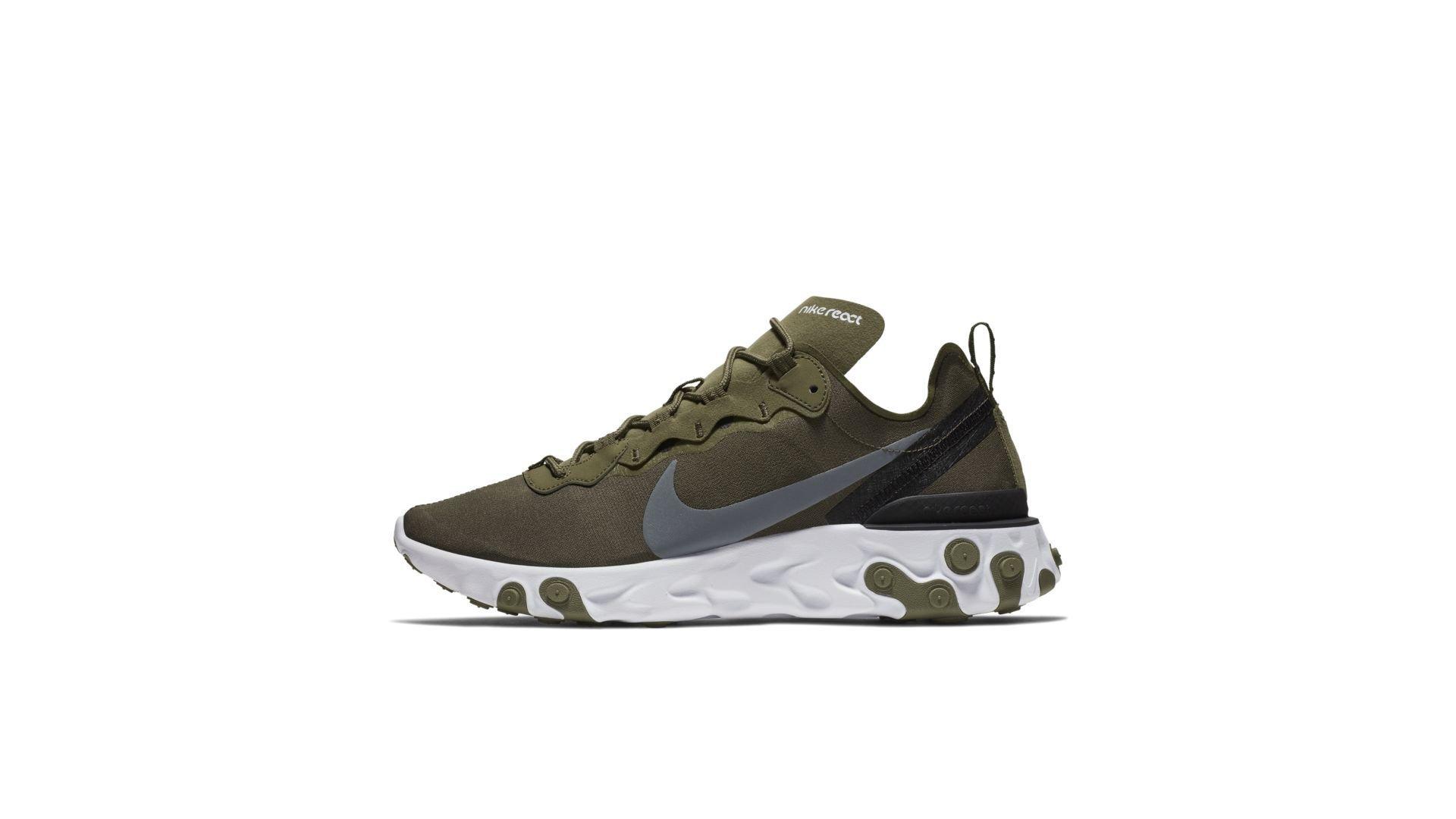 Nike React Element 55 Medium Olive (BQ6166-200)