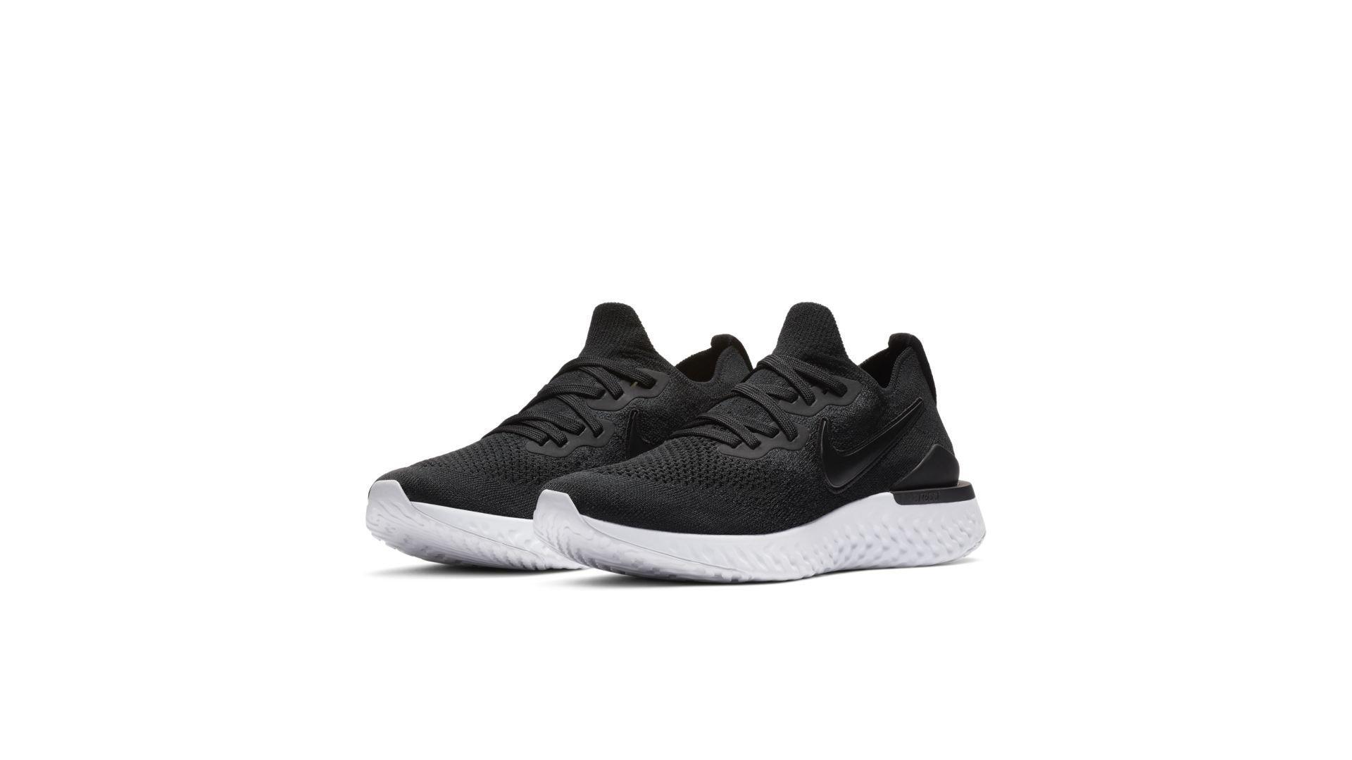 Nike Epic React Flyknit 2 Black White (W) (BQ8927-002)