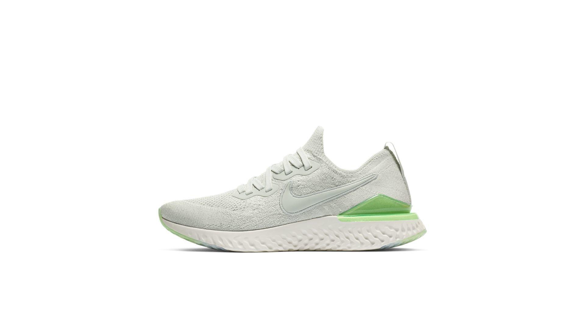 Nike Epic React Flyknit 2 Light Silver Lime Blast (W) (BQ8927-005)