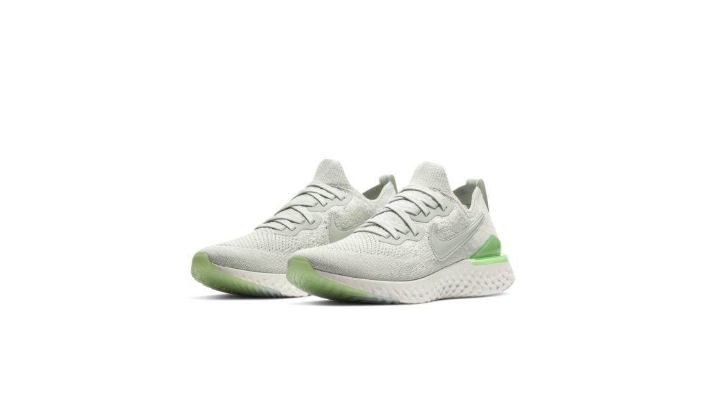Nike Epic React Flyknit 2 Light Silver Lime Blast (W)