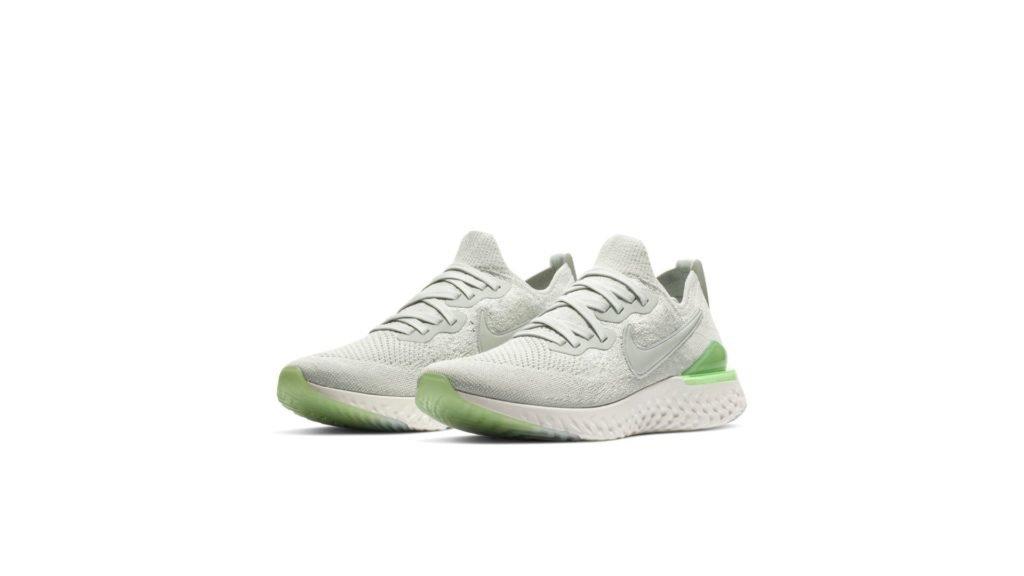Nike Epic React Flyknit 2 Light Silver Lime Blast (W)