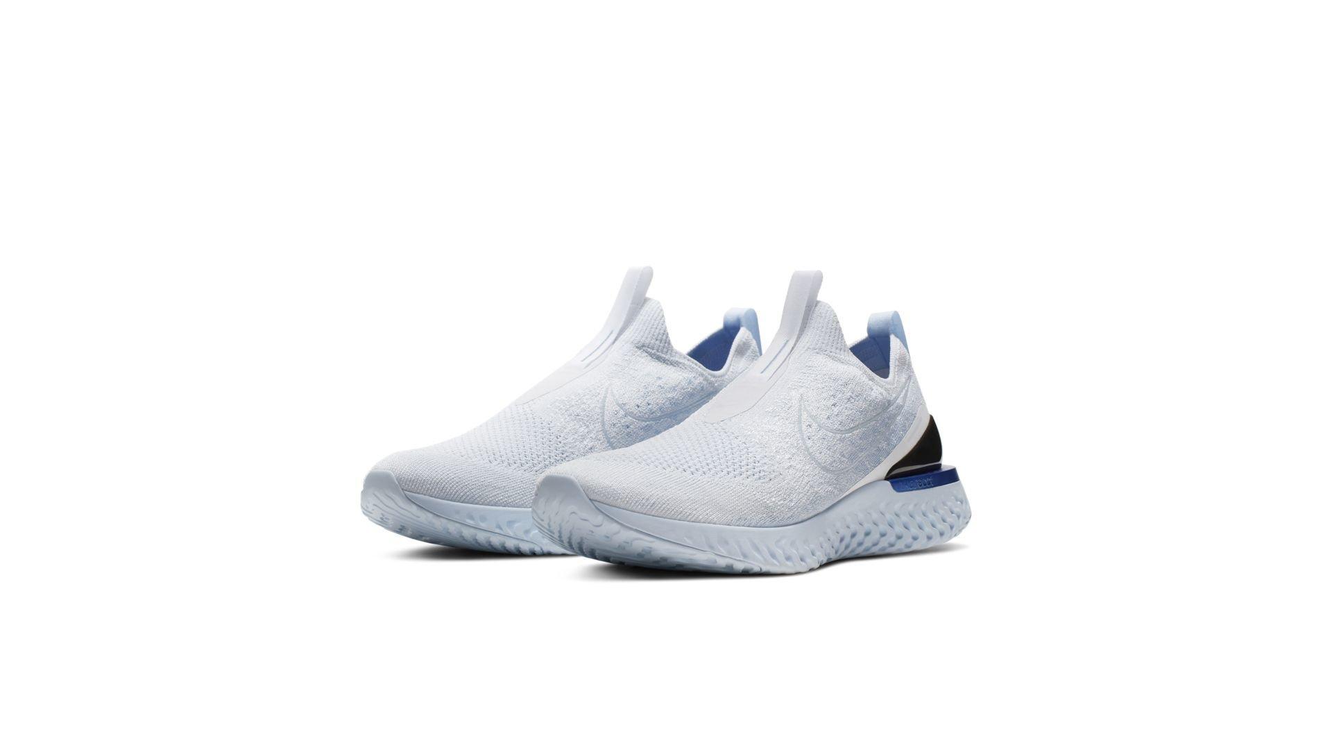 Nike Epic React Moc Flyknit White Hydrogen Blue (BV0417-101)