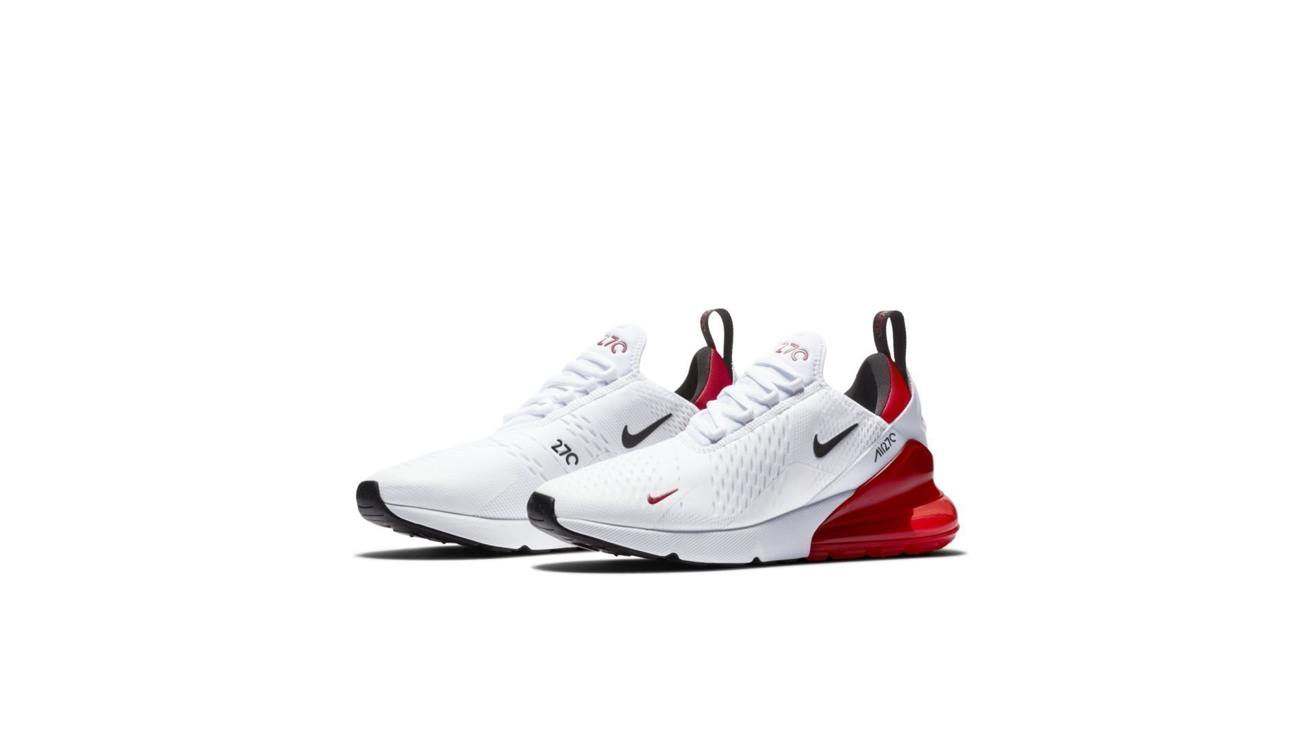 Nike Air Max 270 White Black University Red (BV2523 100)
