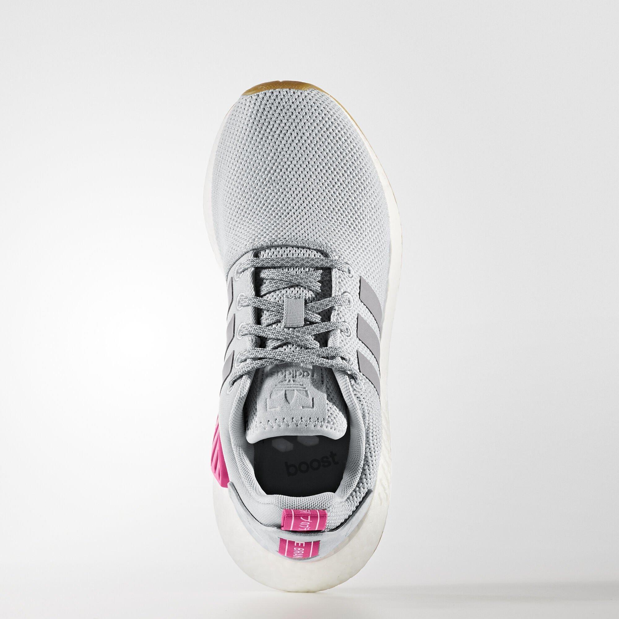 adidas  NMD R2 Grey Shock Pink (W) (BY9317)