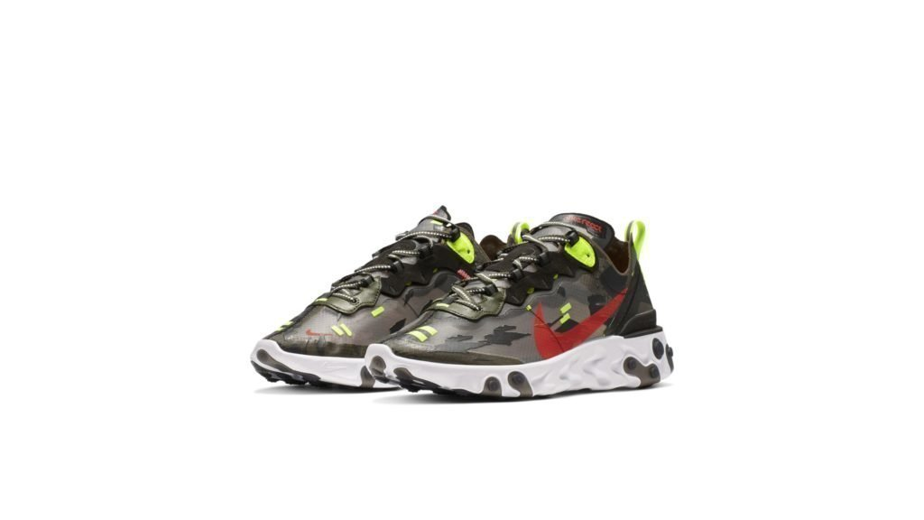 Nike React Element 87 Medium Olive Bright Crimson