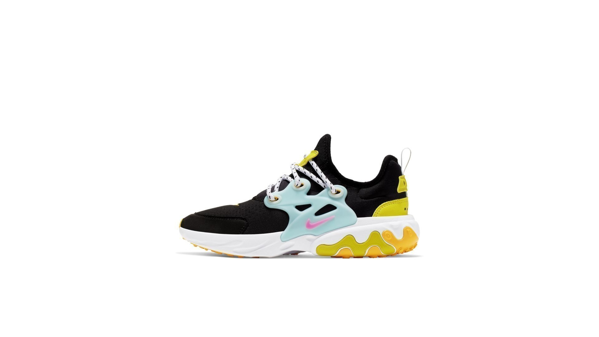 Nike React Presto Black Teal Tint Cyber (GS) (CJ7690-001)