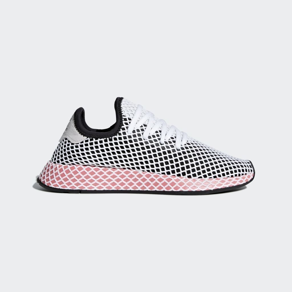 adidas Deerupt Core Black Chalk Pink (W)