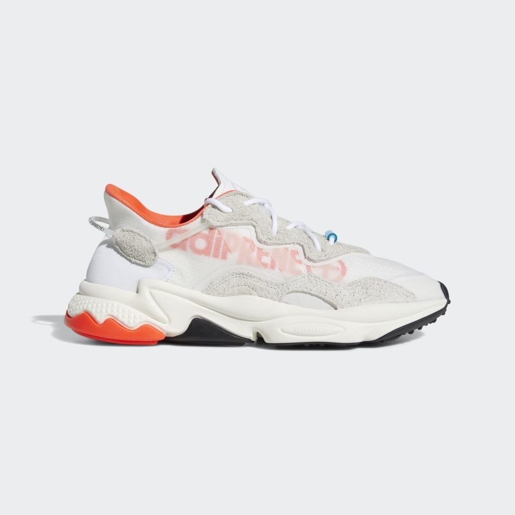 adidas Ozweego Big Logo White Solar Red