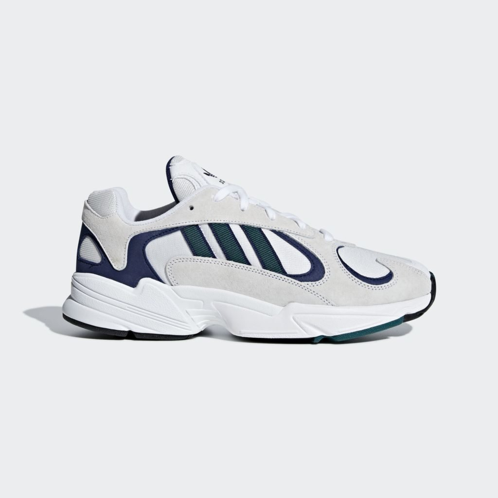 adidas Yung-1 White Noble Green Dark Blue