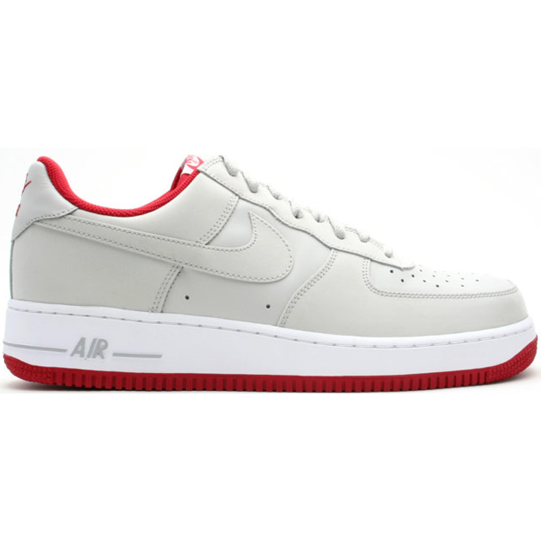 Nike Air Force 1 Low Neutral Grey Varsity Red (313642-007)