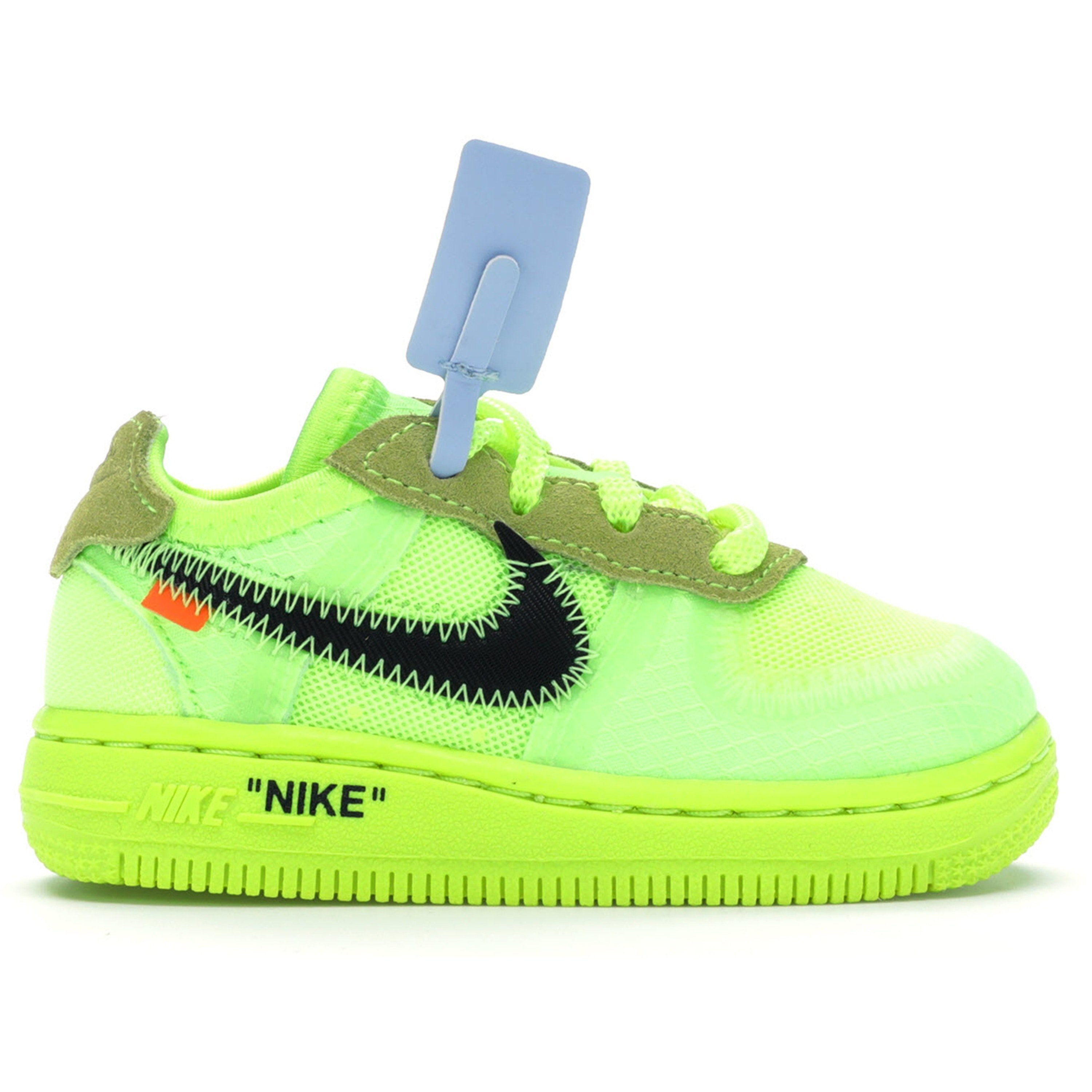 Nike Air Force 1 Low Off White Volt (TD) (BV0853 700)