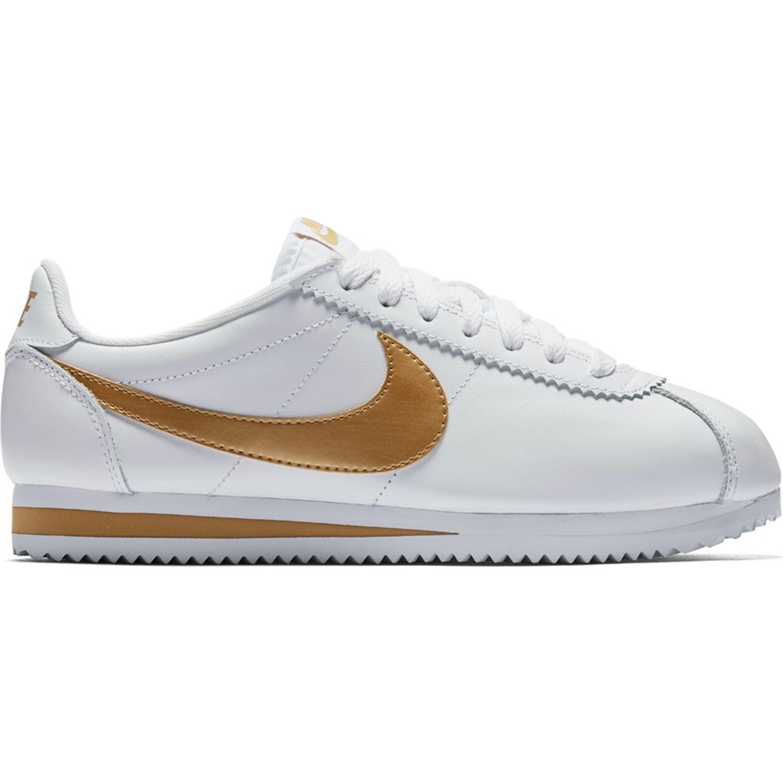 Nike Classic Cortez White Metallic Gold (W) (807471-106)