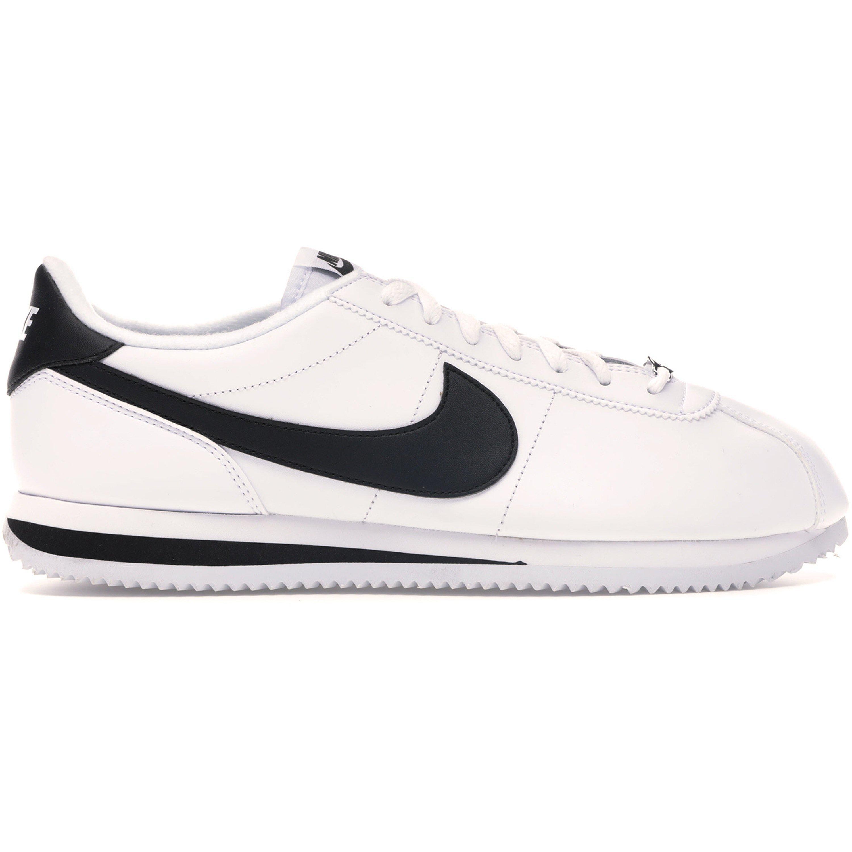 Nike Cortez Basic Leather White Black (2017) (819719-100)