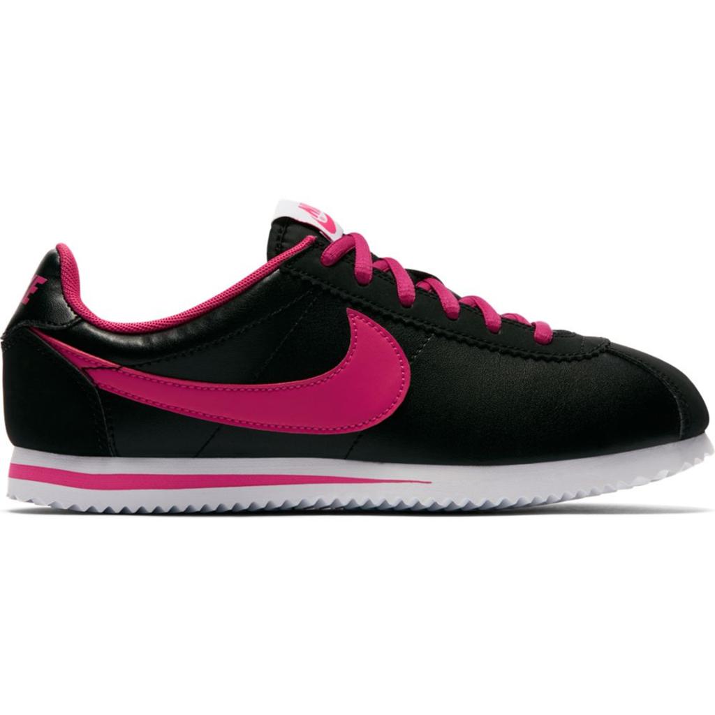 Nike Cortez Black Vivid Pink (GS)