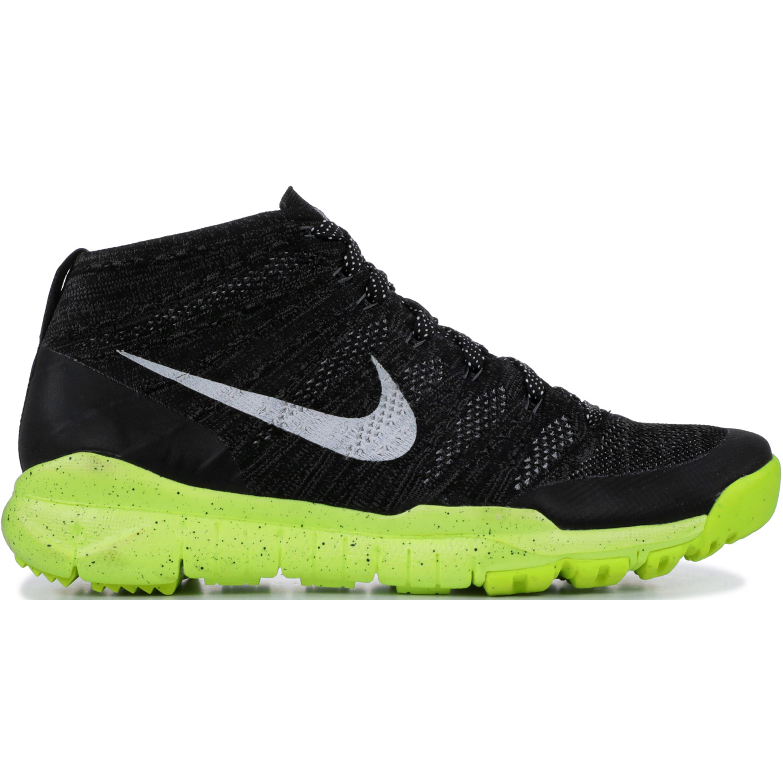 Nike Flyknit Trainer Chukka Fsb Black White Volt (625009-017)