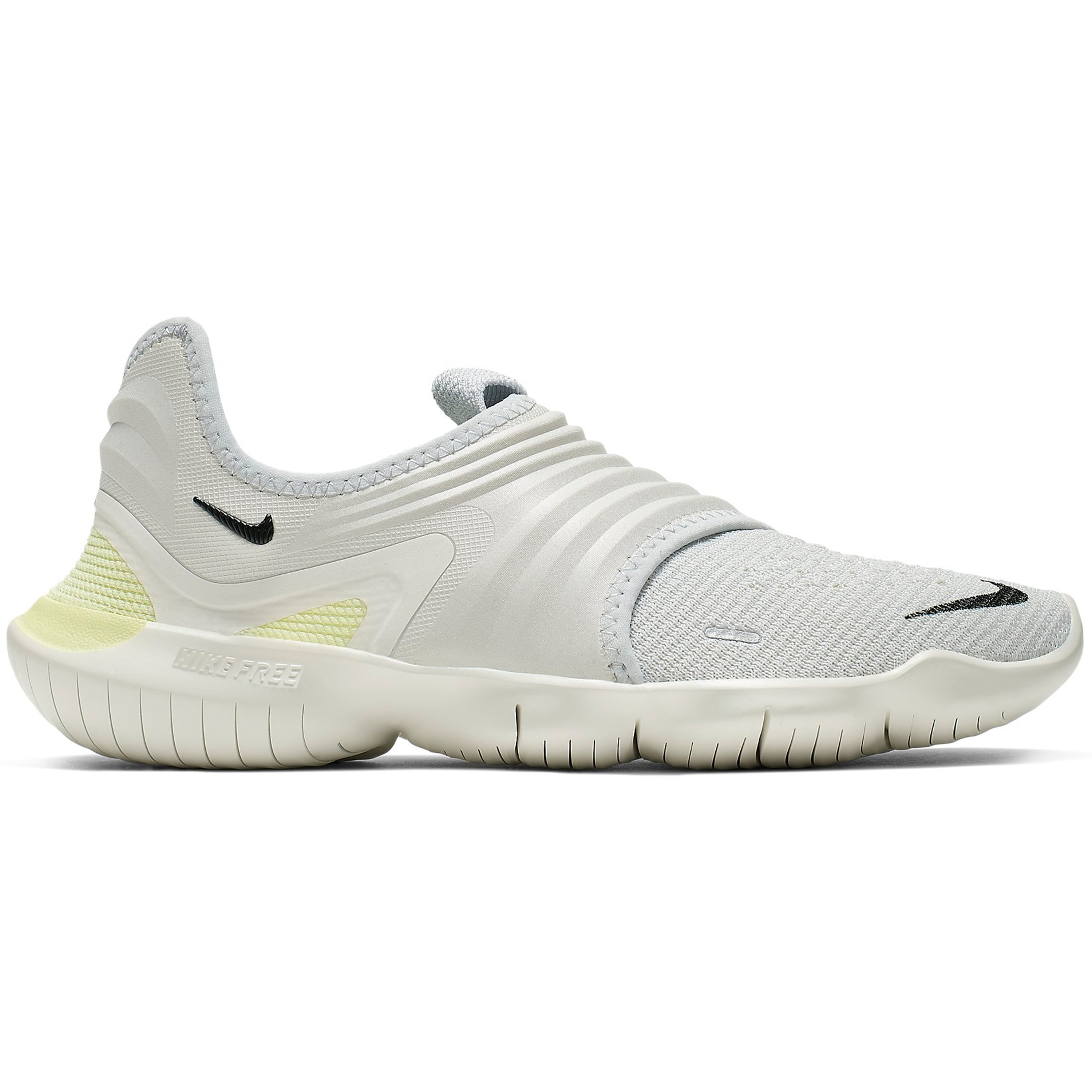 Nike Free RN Flyknit 3.0 Pure Platinum Luminous Green (W) (AQ5708-004)