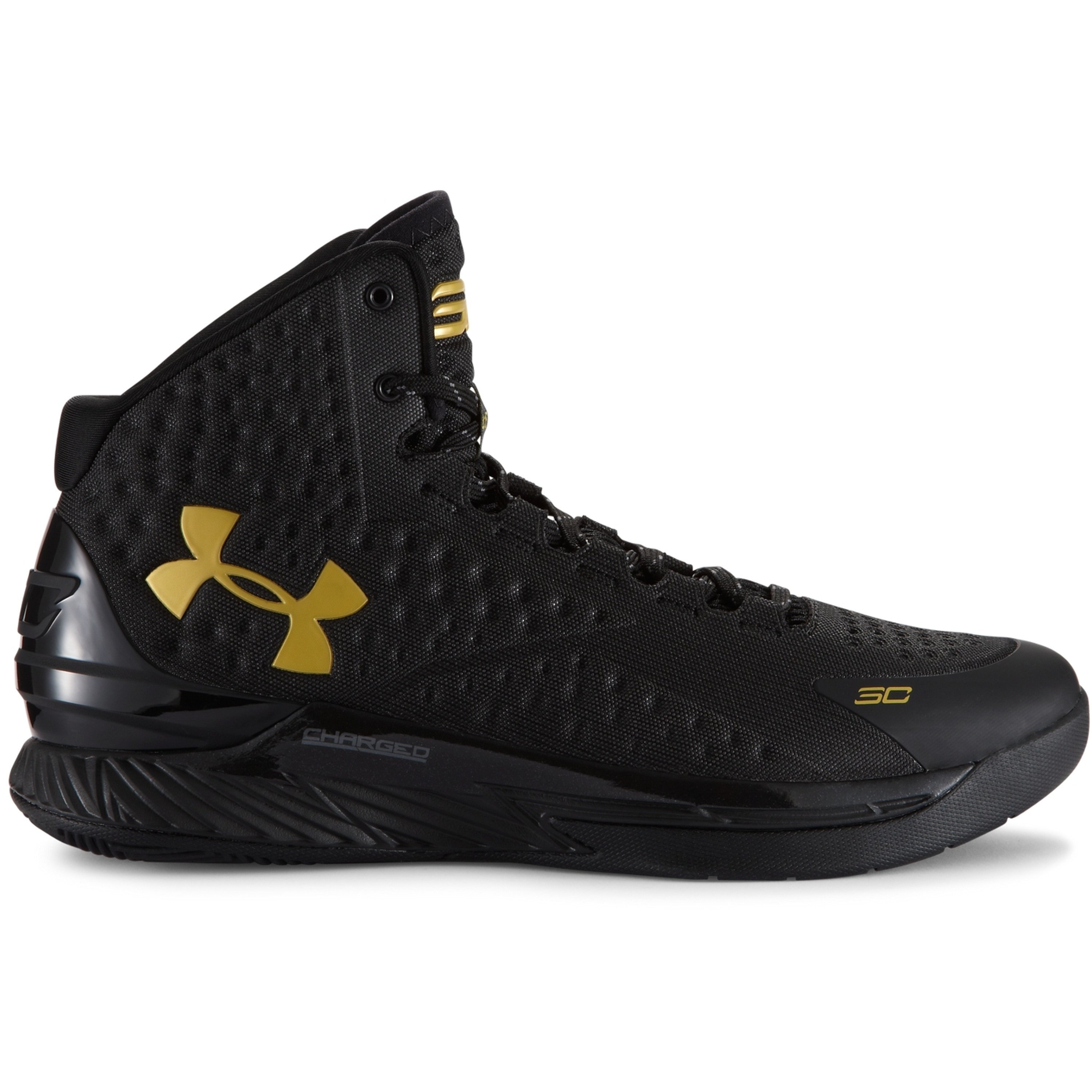 Under Armour UA Curry 1 Black and Gold Banner (1258723-008)