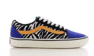 Vans ComfyCush Old Skool Zebra/Blauw Dames