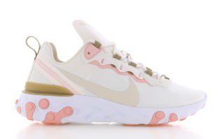 Nike React Element 55 Beige/Roze Dames