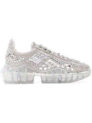 Jimmy Choo Crystal Shimmer sneakers - Zilver