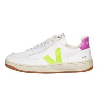 Veja V-12 (wit/roze/paars)