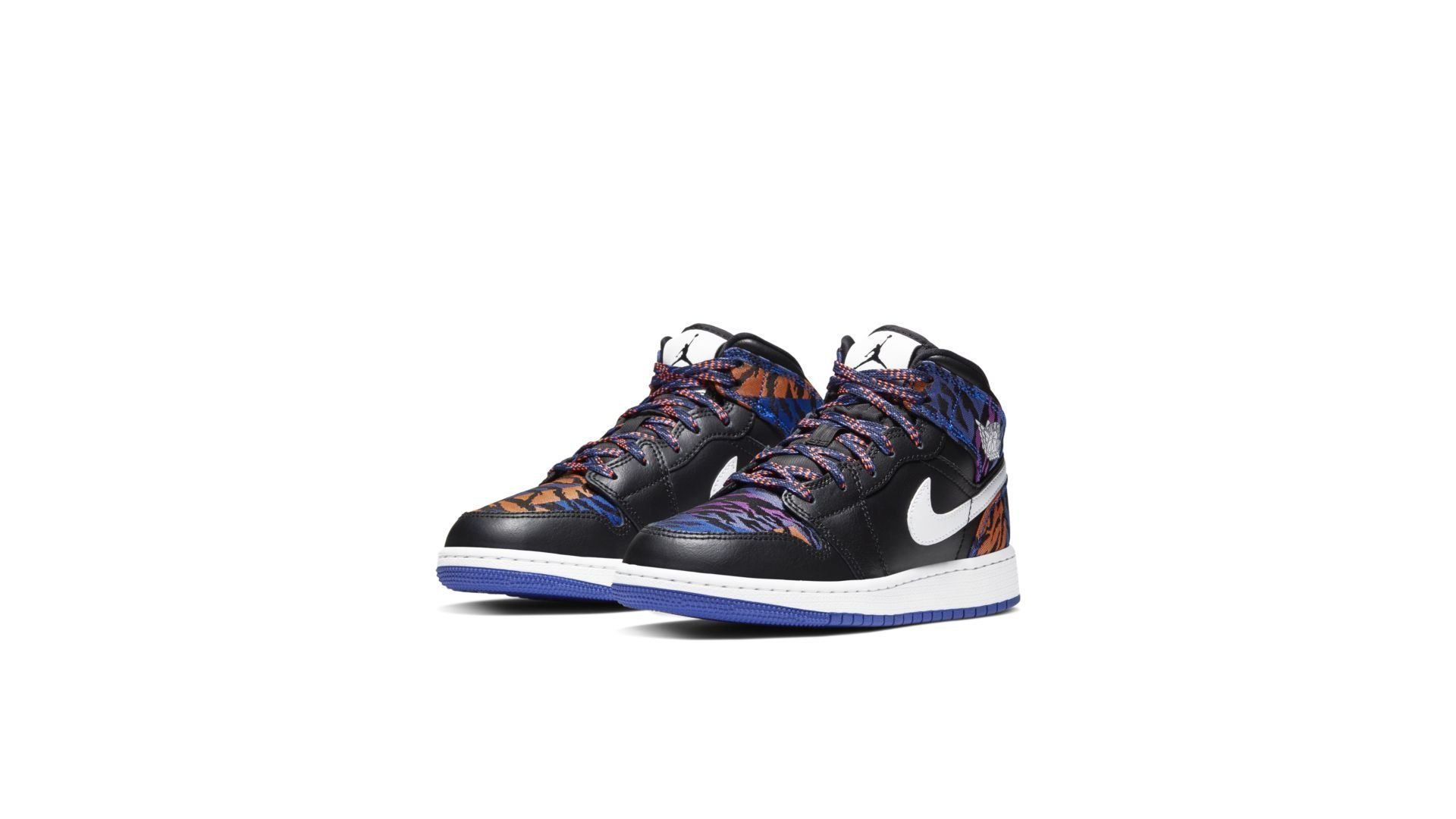 Jordan 1 Mid Multi-Color Tiger Stripe (GS) (AV5174-005)