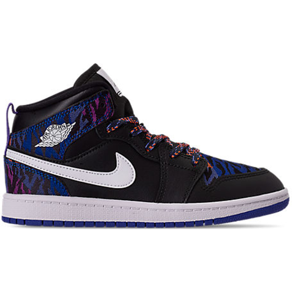 Jordan 1 Mid Multi-Color Tiger Stripe (PS)