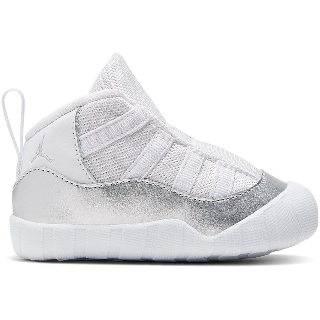 Jordan 11 Crib Bootie White Platinum (TD)
